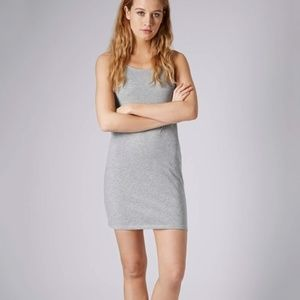 TOPSHOP Bodycon Gray Tank Cami Midi Dress